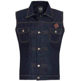 King Kerosin Denim Vest - Blanko