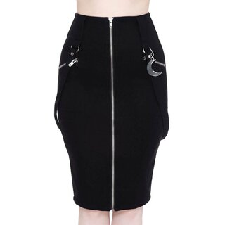 Killstar Pencil Skirt - Darklands Black