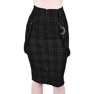 Killstar Pencil Skirt - Darklands Tartan