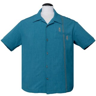 Steady Clothing Vintage Bowling Shirt - Tiki Retro Stitch...