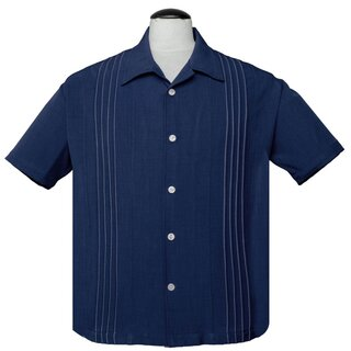 Steady Clothing Vintage Bowling Shirt - The Otis Navy