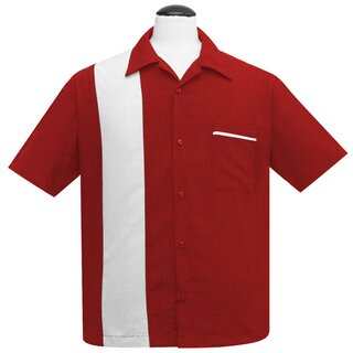 Steady Clothing Vintage Bowling Shirt - PopCheck Single Rot L