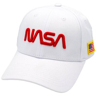 NASA Baseball Cap - Red & White