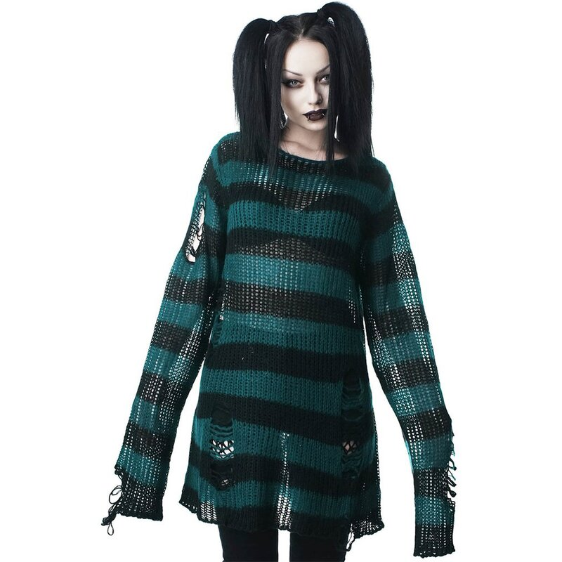 Killstar Strickpullover - Sea Punk L