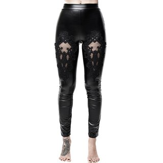 Killstar Faux Leather Leggings - Lovelace