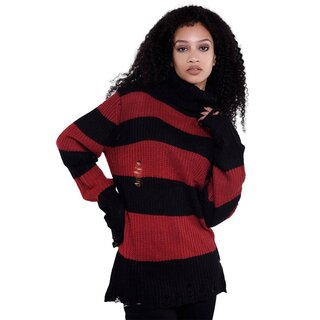 Killstar Unisex Knitted Sweater - Seven Blood Red
