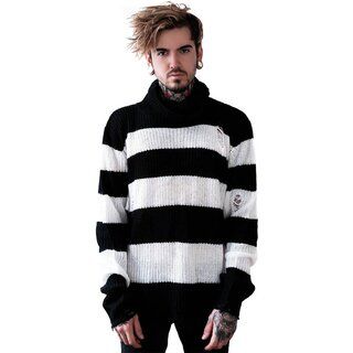 Killstar Unisex Knitted Sweater - Seven White