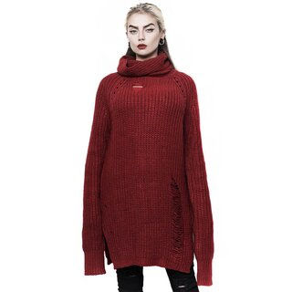 Killstar Knitted Sweater - Sweet Six Blood Red
