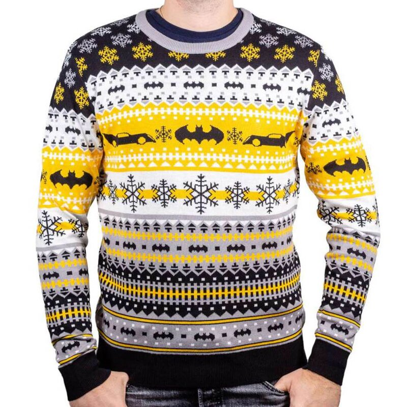 Batman Strickpullover - Ugly All-Over Christmas Sweater