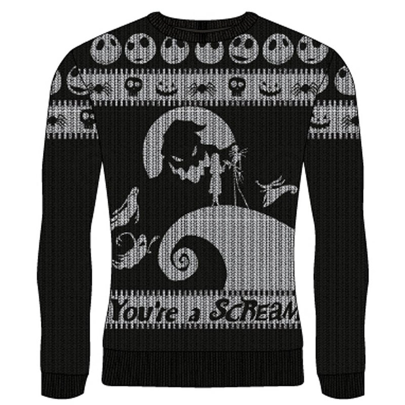 Nightmare Before Christmas Weihnachtspullover - Youre A Scream XL