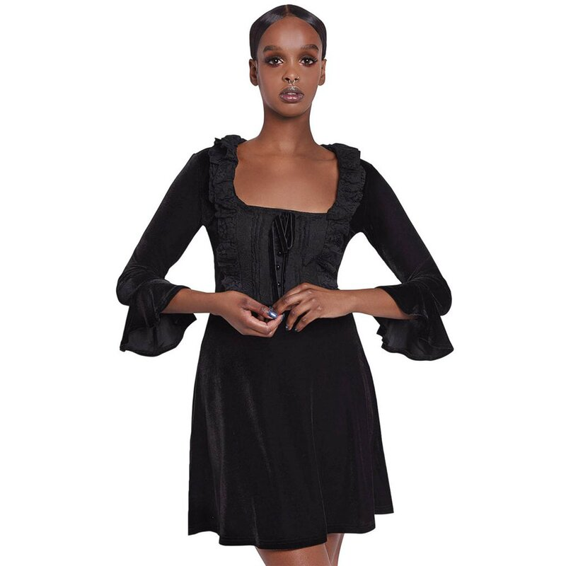 Killstar Samt Minikleid - Laid To Rest XXL
