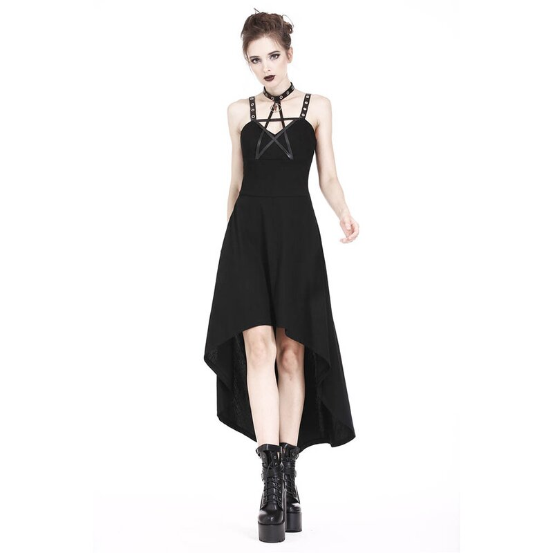 Dark In Love High-Low Kleid - Leather Star XL