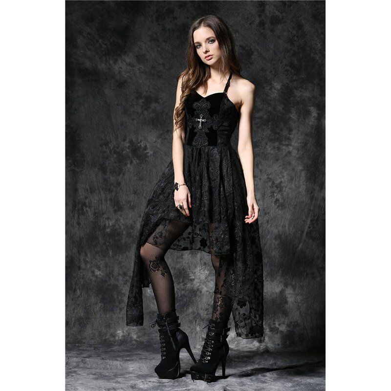 Dark In Love Spitze Kleid - Dead Souls Cross XL