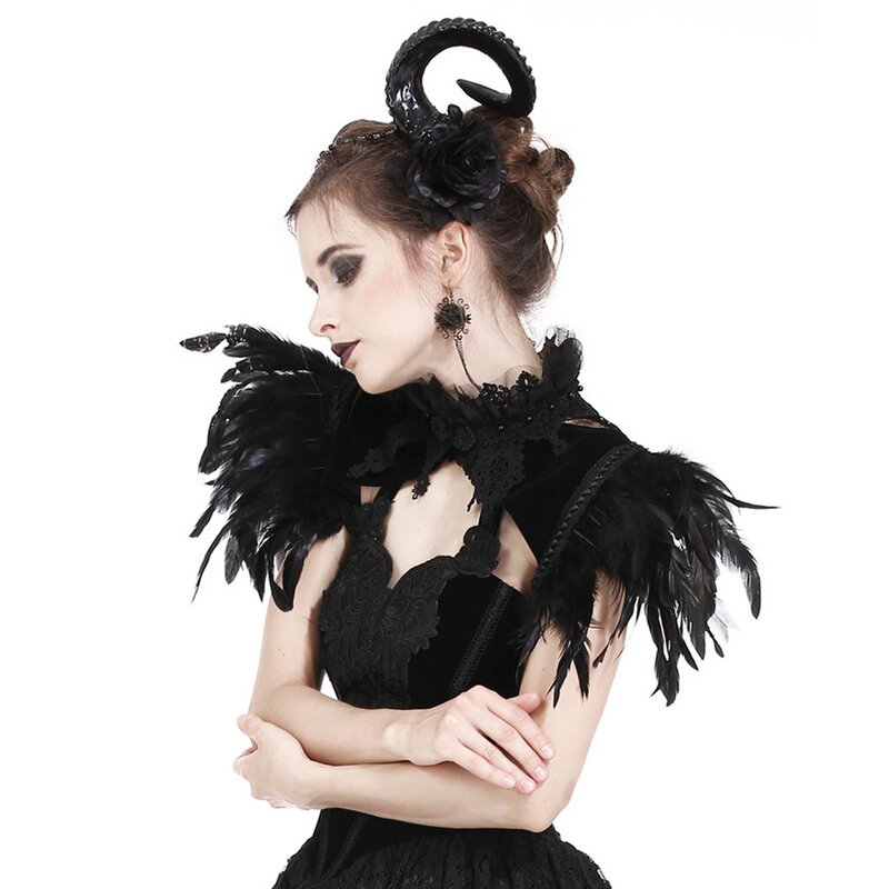 Dark In Love 2-in-1 Bolero - Feather Capelet