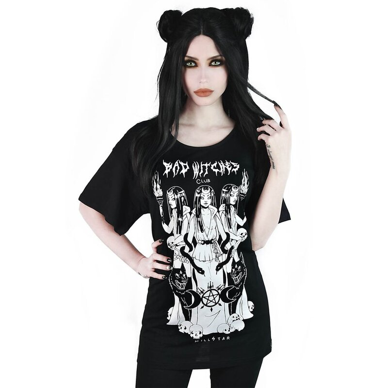 Killstar Relaxed Top - Bad Witches Club XS