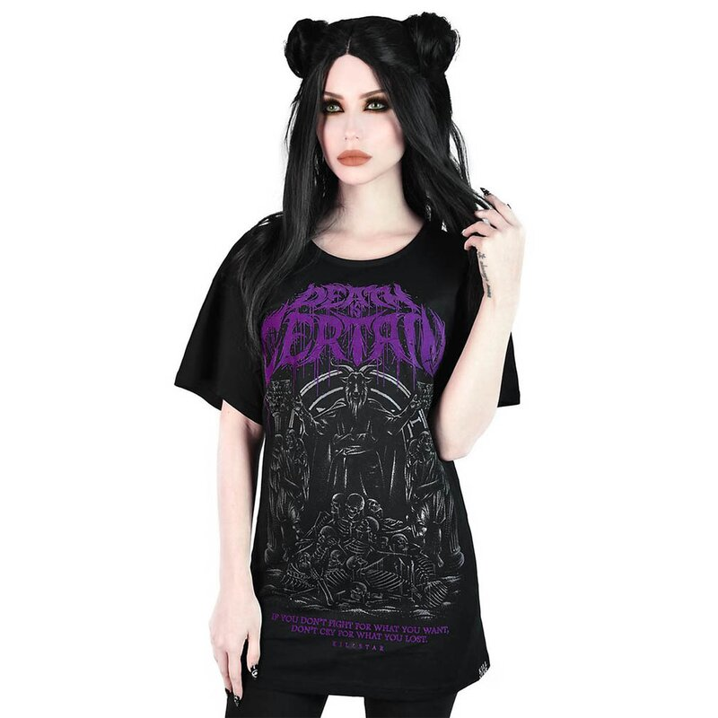 Killstar Relaxed Top - Death Is Certain XS
