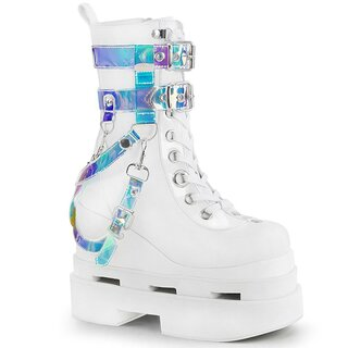 Demonia Platform Boots - Eternal-115 White