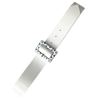 Banned Retro Faux Leather Belt - Chenelle White