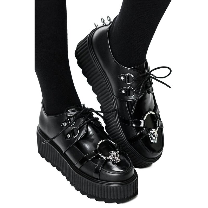 Killstar Plateauschuhe - Skeleton Creepers 40