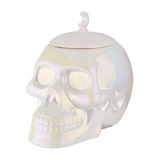 Killstar Cookie Jar - Skull Aura White