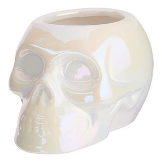 Killstar Planter - Skull Aura White