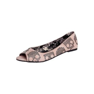 Iron Fist Peep Toe Flat - Sugar Hiccup Ballerinas