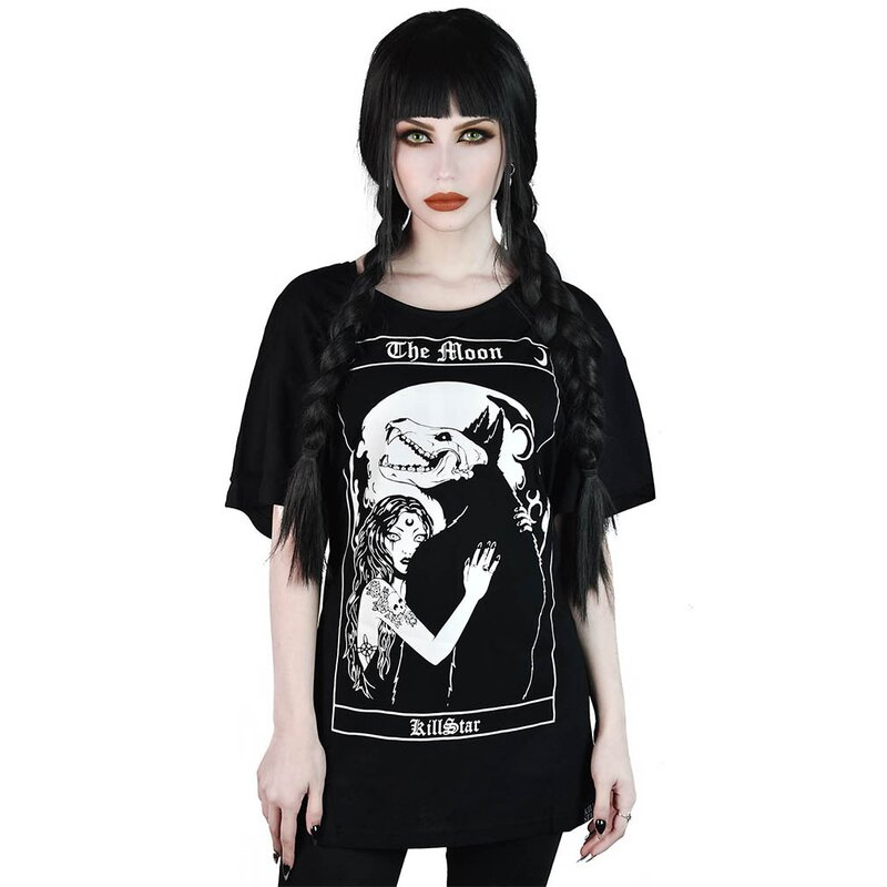 Killstar Relaxed Top - Wolf Moon XL