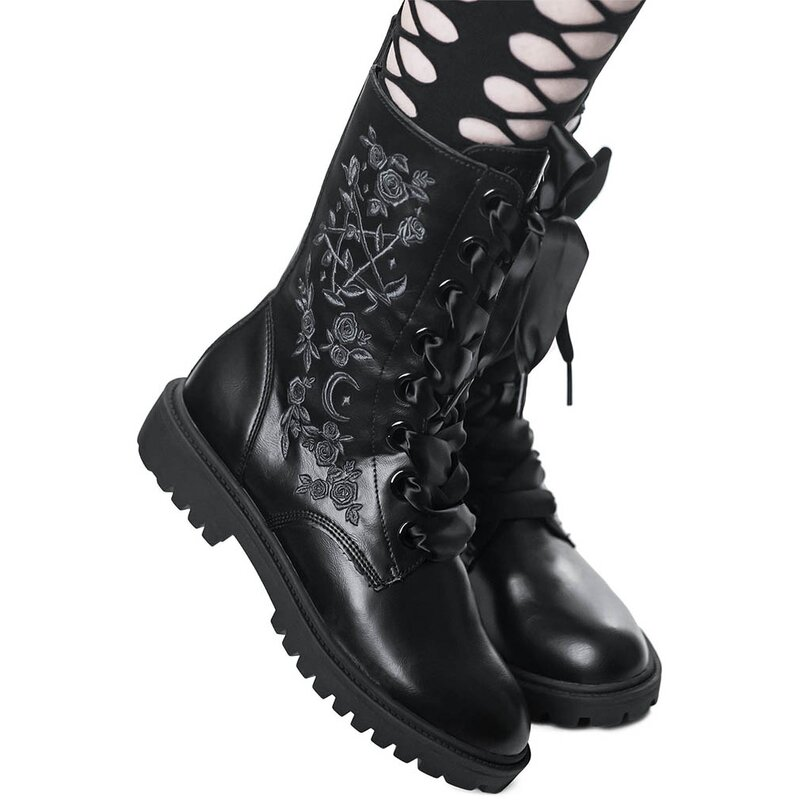 Killstar Combat Boots - Enchanted 36