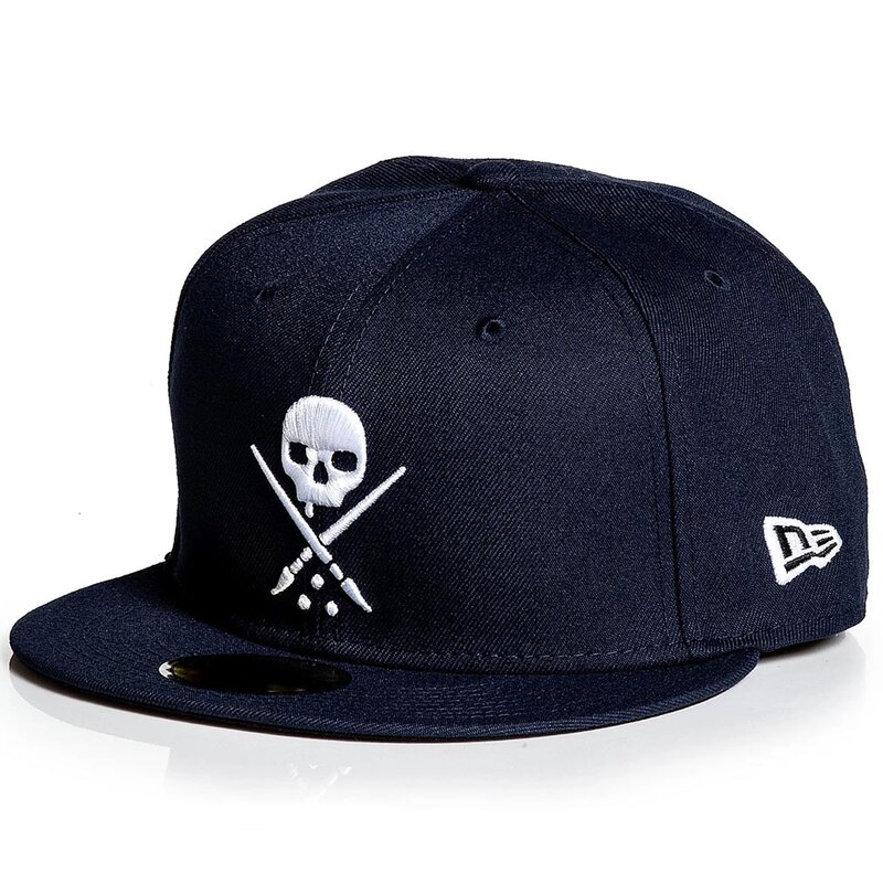 Sullen Clothing New Era Fitted Cap - Badge Navy 7 1/4