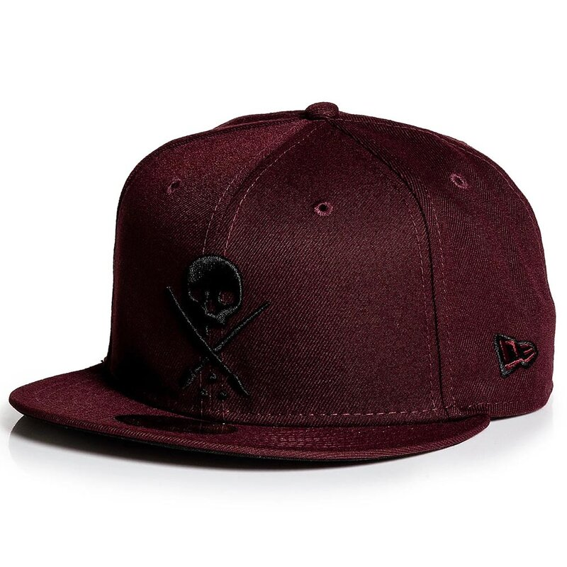 Sullen Clothing New Era Fitted Cap - Badge Maroon 6 7/8