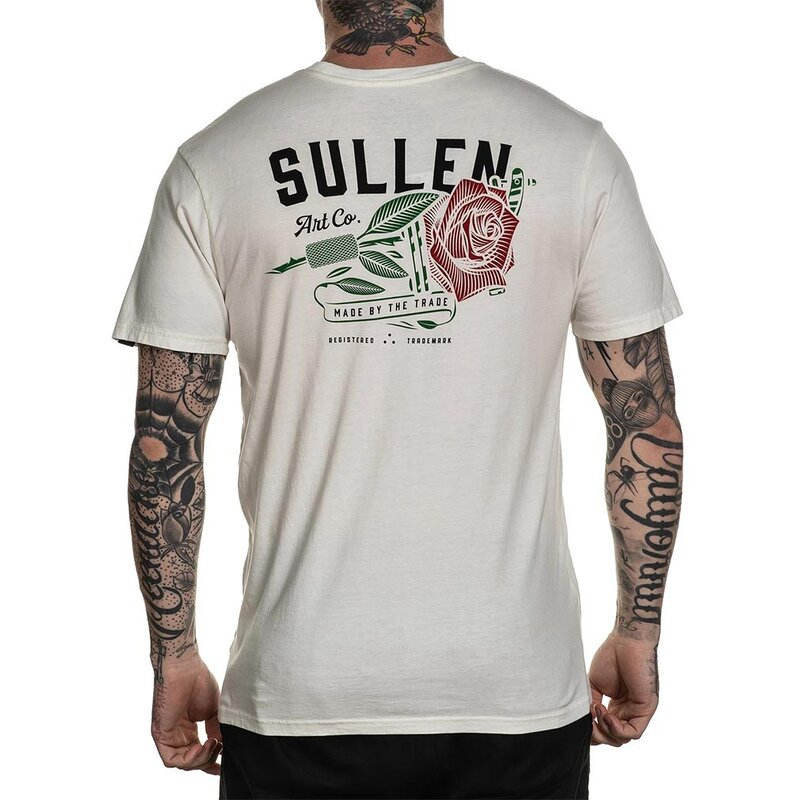 Sullen Clothing T-Shirt - Red Rose Antique L
