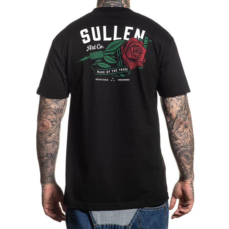 Sullen Clothing T-Shirt - Red Rose Schwarz