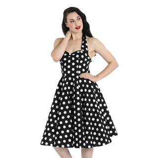 Hell Bunny Vintage Dress - Mariam Black