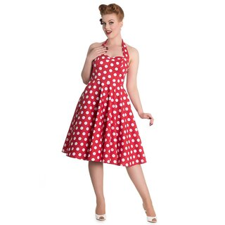 Hell Bunny Vintage Dress - Mariam Red