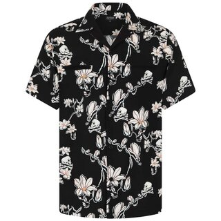 Chet Rock Vintage Shirt - Skulls And Flowers