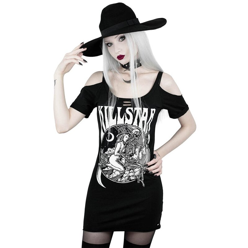 Killstar Träger Top - Witches On Tour Distress S