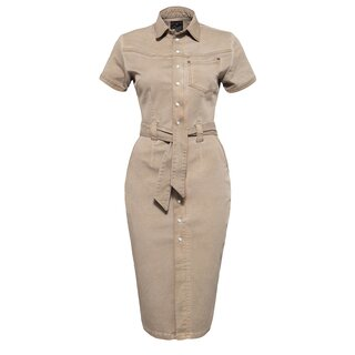 Queen Kerosin Workwear Dress - Blanko Khaki