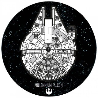Star Wars Mini Teppich - Millenium Falcon