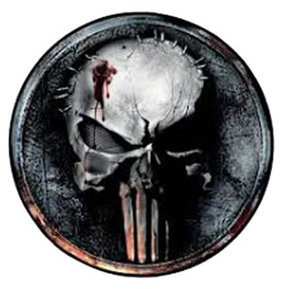 The Punisher Rug - Grunge Logo