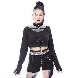 Heartless Long Sleeve Crop Top - Vega