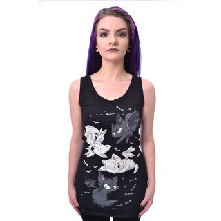 Cupcake Cult Ladies Tank Top - Good Cat Bad Cat
