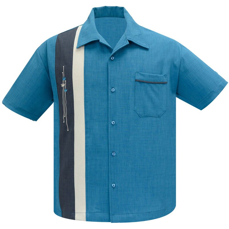 Steady Clothing Vintage Bowling Shirt - The Arthur Pacific