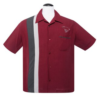 Steady Clothing Vintage Bowling Shirt - The Boomer Ruby