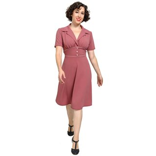 Steady Clothing Halter Dress - 40s Katherine Mulberry
