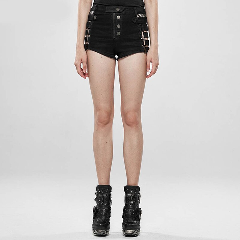 Punk Rave Denim Shorts - Control Freak