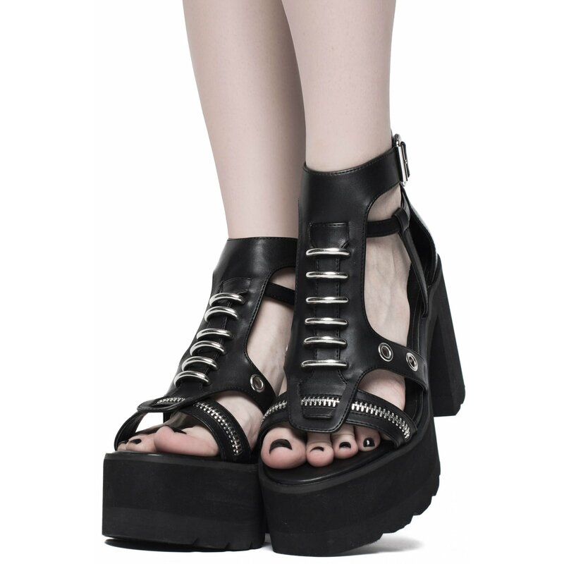 Killstar Plateau Sandalen - Dark Arts 38