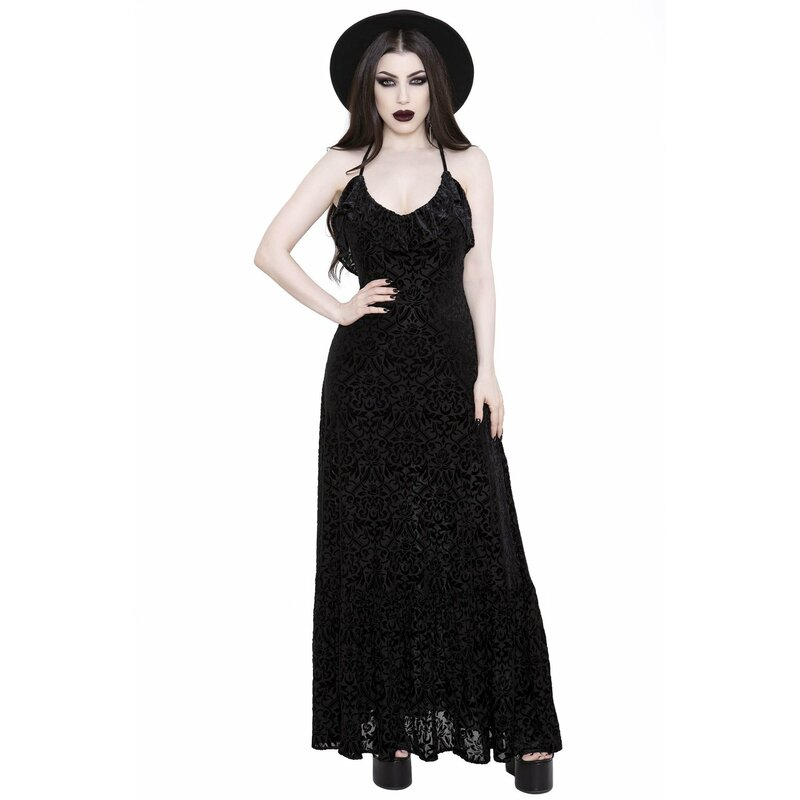 Killstar Samt Maxikleid - Eloise XL