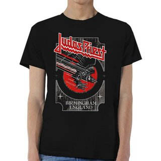 Judas Priest T-Shirt - Red And Silver Vengeance