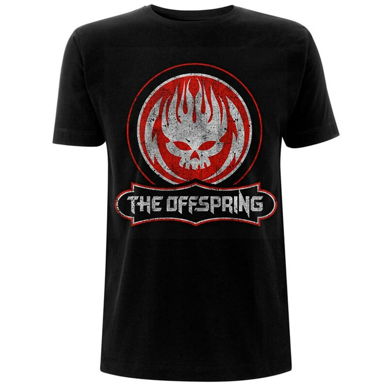The Offspring T-Shirt - Distressed Skull S