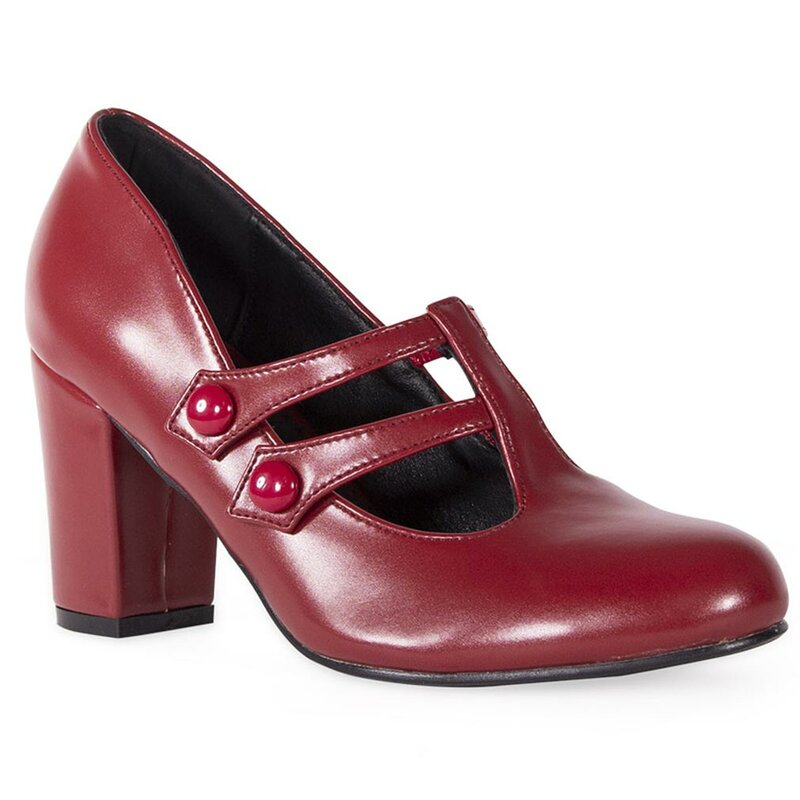 Banned Retro Pumps - Isabella Burgundy
